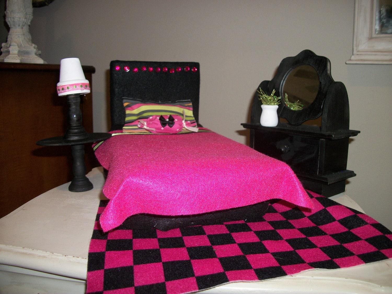 barbie doll furniture bedroom set