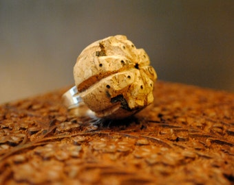 hand carved cork ring
