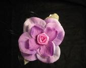 lavender hair clip reserved for Leann