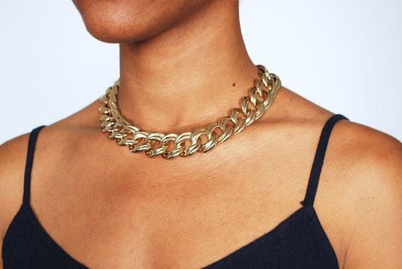 S A L E- Vintage Gold Chain Necklace