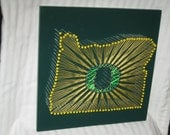 Oregon Ducks String Art