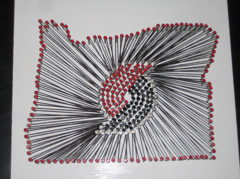 How To Do String Art Oregon Portland Trailblazers String Art