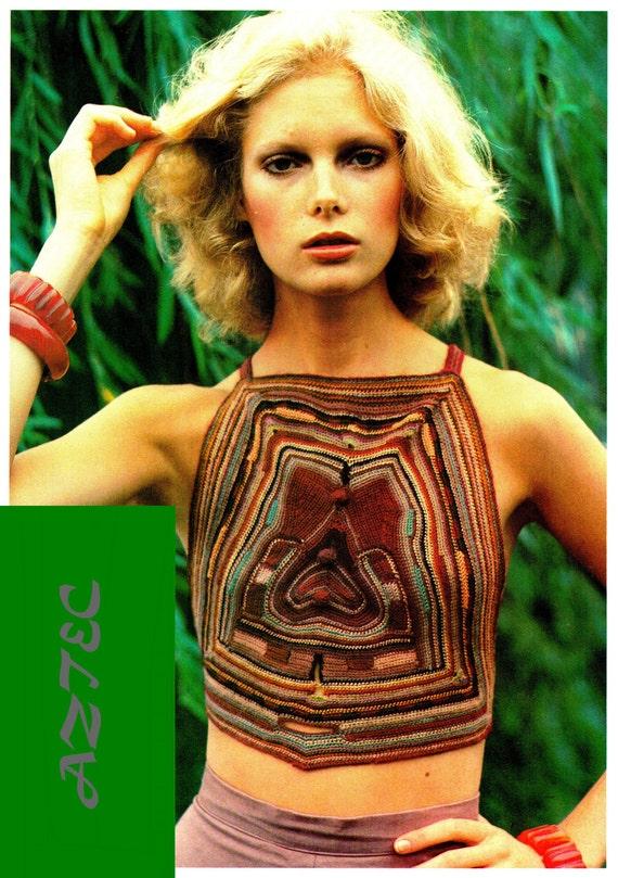 70 Best Dana Linn Bailey Images On Pinterest: Vintage 70's Crochet Halter Top PDF Pattern By KinzieWoolShop
