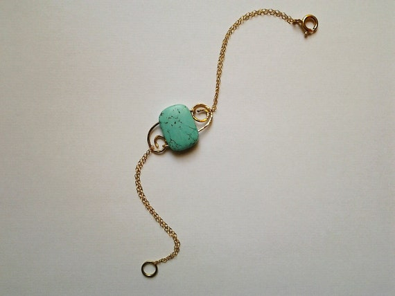 Turquoise bracelet - Gold or Silver mother's day sale