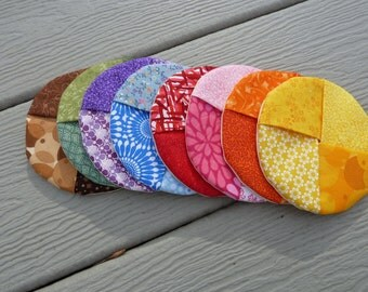Set of Four - Rainbow Wine Coaster and Charm - in one - Stay on Coaster