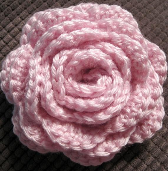 TBK Rolled Rose Crochet Pattern- PDF tutorial