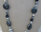 Black , White and Silver  Jewelry Set.