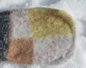 mittens for newborn baby, argyle wool