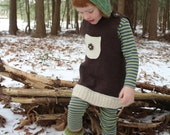 dress to vest in brown merino wool 2T to 5T