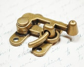 Large Swing Clasp Antiqued Brass Hardware -  Industrial Steampunk Closure