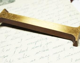 Brass Letter I - Gold Address Numbers Letters Vintage Steampunk Hardware