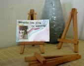 mini easel 5 inches tall ACEO ATC wooden tiny small