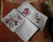 4 Pink Themed Hankies