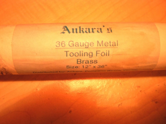 3 Rolls of Ankara's 36 Gauge Metal Tooling Foil Brass Size 12 x 36 Inches