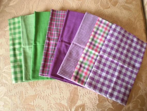 Homespun 8 piece Fat Quarter Fabric