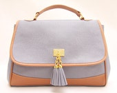 Tassels Cornflower Blue Summer Messenger Bag