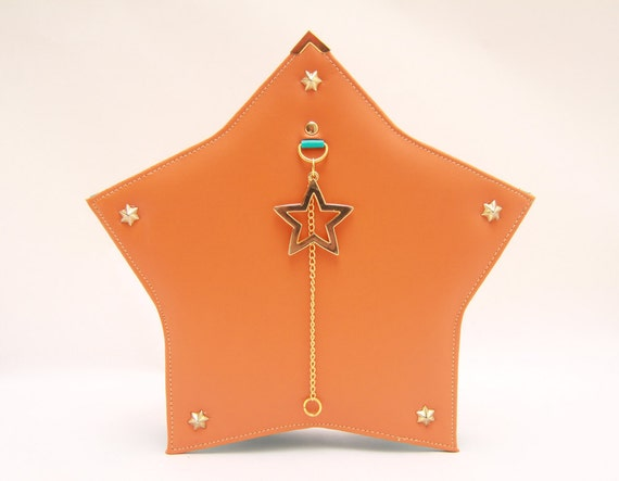 LUCKY STAR Shick Tangerine Turquise Shoulder Bag