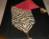 Table Runner - Black & Gold Tiger Print - Reversible