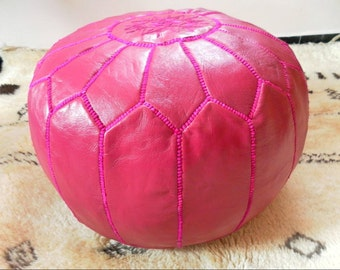 Moroccan Leather pouf for COLORFUL DECOR