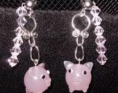 Hypoallergenic Pink Piggy Earrings