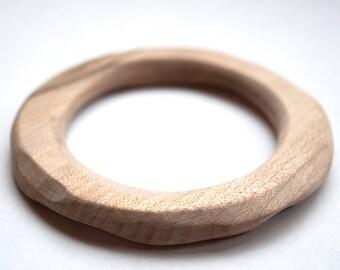 Wooden Teething Ring - Wood Teether Ring - Baby Teething Ring