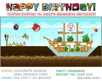 Birds Birthday Invitation