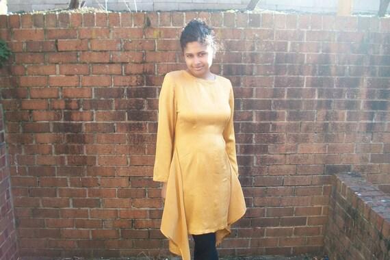 Vintage Yellow Silk Mary Jo Bruno Dress