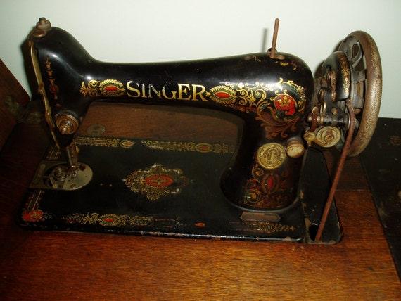 Singer Treadle Sewing Machine 1913 Sewing Machine Singer