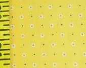 Yellow Gingham with Tiny Dots and Daisies  VFA-292