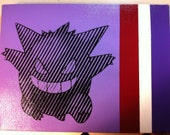 Pokemon Gengar Stencil Painting (for Golurk)