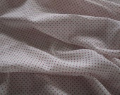 """SWATCH 3"""" x 7"""" BIG - Cotton Fabric - Polka Dots White Background with Red Dots F-26-11"""