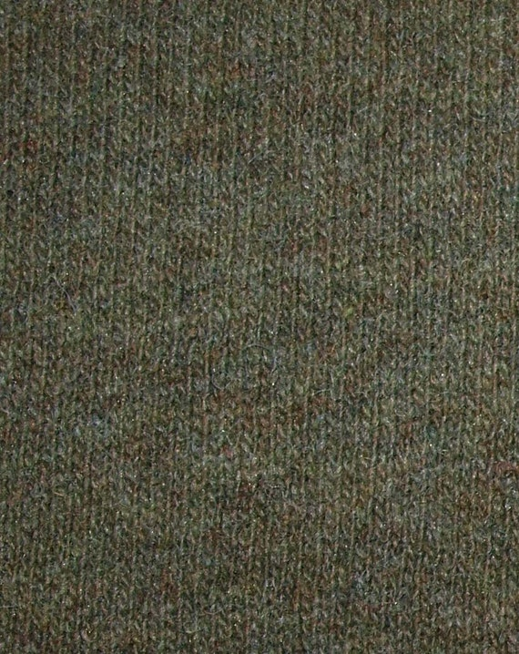 2 Yards Sweater Knit Wool Jersey Fabric Green Amp Brown With