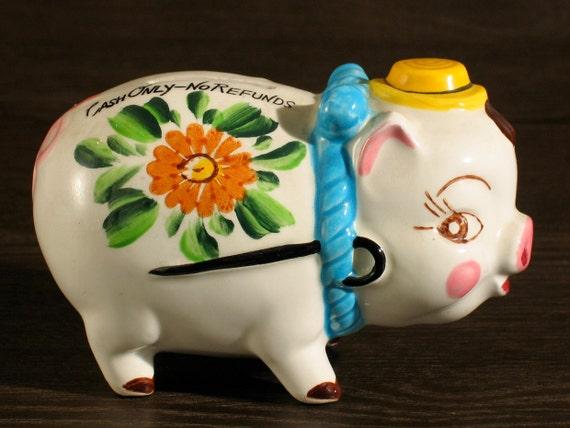 Dandy Lil 39 Pig Antique Ceramic Piggy Bank