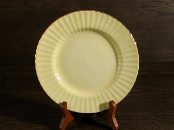 SALE Buttercup Yellow Plate with Gold Luster Trim by Royal Standard Fine Bone China EXCELLENT