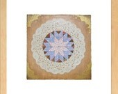Decorative Doily Collage - Pink and Blue
