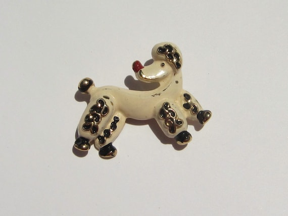Enameled Poodle Pin