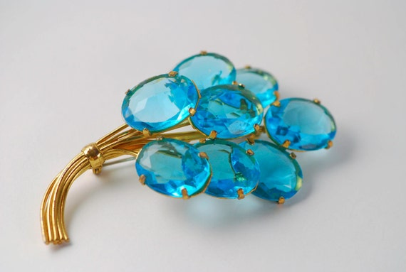 Sterling Blue Topaz Balloon Pin