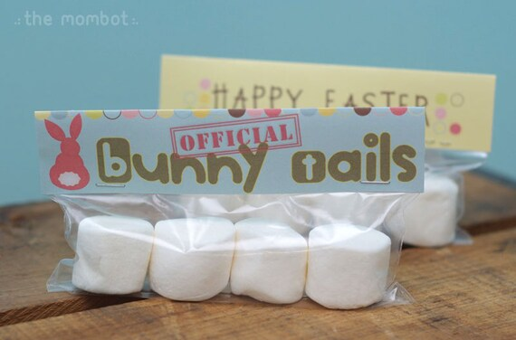 Printable Bunny Tails Easter Baggie Topper