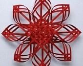 X Lg Red Carolina Snowflake
