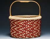 Calabash Clam Basket - walnut/red