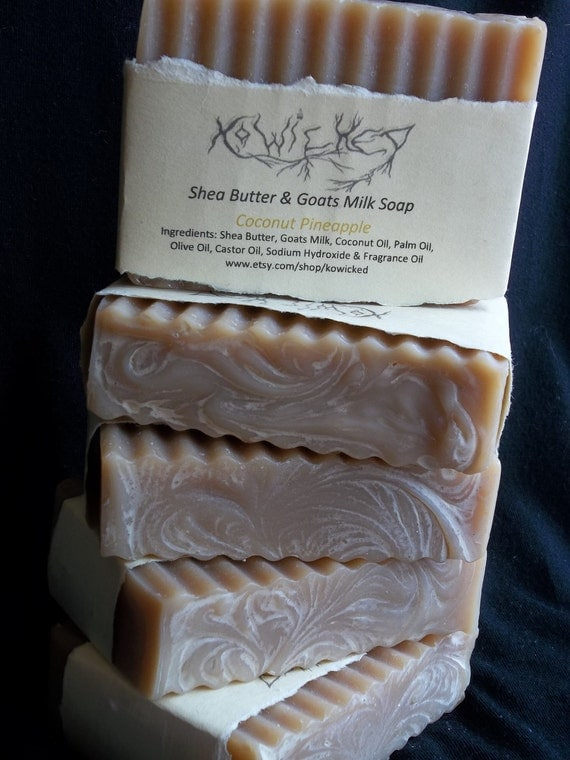 Coconut Pineapple Goats Milk Soap with Shea Butter