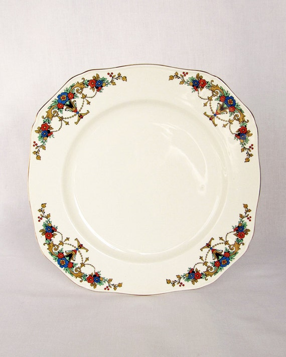 Vintage 1940s Gilded Alfred Meakin Dinner Plate - English Made - Collectable