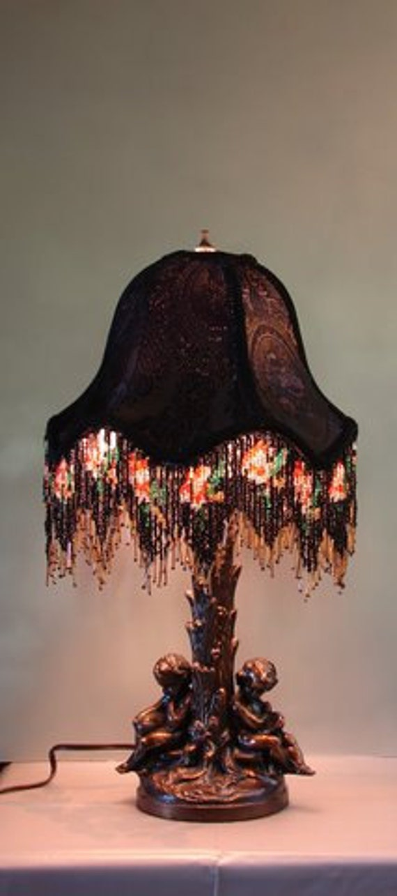 """Old World, Casablanca style,  One of A Kind Lampshade w/ Base - """"Midnight Romance"""""""