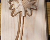 Palm Tree  carved wood wall hanging wall plaque unfinished pine
