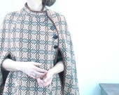 warm and cozy vintage wool 60's women's welsh woolens shawl cape