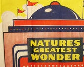 vintage 1940's carnival poster NATURES GREATEST WONDER circus sideshow 28x41