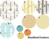 Baby Boy Crib Bedding Organic Woodland Creatures 5 PIece Custom Set
