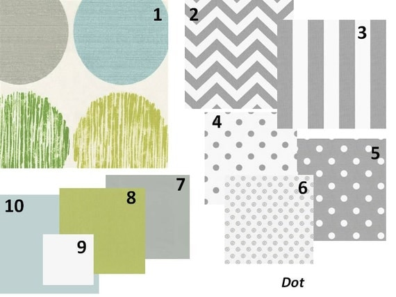 Items Similar To Baby Boy Crib Bedding Polka Dot Modern 5