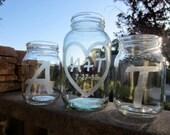 Mason Jars, Sand Ceremony, Personalized Jars