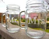Mr. and Mrs. Mason Jar Mug Set